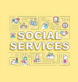 social services word concepts banner vector image vector image
