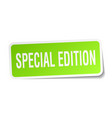 special edition square sticker on white vector image vector image