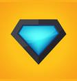 superhero logo vector image vector image