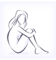 Symbolic modern image of bare woman vector image
