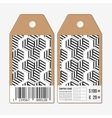 tags design on both sides cardboard sale vector image vector image