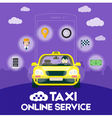Taxi online service vector image vector image