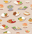 thai food seamless pattern with thailand cuisine vector image vector image