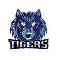 Tigers logo sport team vector image vector image