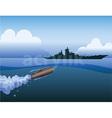 Torpedo attack on ship vector image