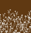 wild flowers and branch vector image vector image