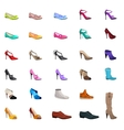 Women s fashion collection of shoes vector image vector image