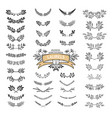 collection of vintage dividers vector image