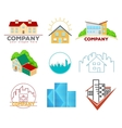 Real Estate Emblems and Logos vector image