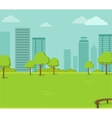 City Park with a Lawn and Trees vector image