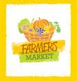 farmers market creative organic local food vector image