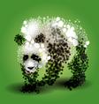 abstract panda vector image