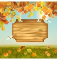 Autumn Landscape Wooden Board vector image vector image