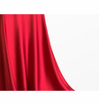 background luxurious red fabric or liquid wave vector image