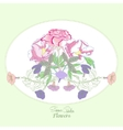 Background with bindweed flowers-01 vector image