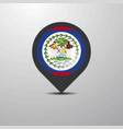 belize map pin vector image