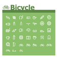 Bicycle icon set vector image vector image