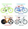 Bicycle types set II vector image vector image