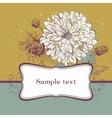 blooming chrysanthemums vector image vector image