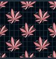 Bright seamless marijuana pattern black