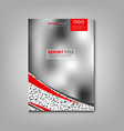 brochures book or flyer with abstract blurry vector image vector image