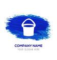 bucket icon - blue watercolor background vector image