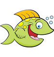 cartoon of a smiling fish vector image vector image
