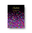 catalog cover design with confetti vector image vector image