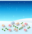 christmas new year snow vector image