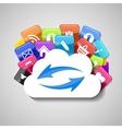 Cloud Computing Concept vector image vector image