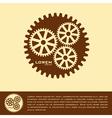 Cogwheel logo design template vector image vector image