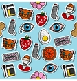 Colored Allergy icon pattern vector image