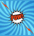 comic pow wording template vector image vector image