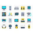computer simple flat color icons set vector image vector image