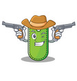 cowboy price tag character cartoon vector image vector image