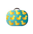 cute children suitcase with ducks vector image vector image