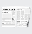 daily news paper template with text and picture pl vector image