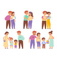 family development stages happy couple life vector image