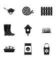 Farming icons set simple style vector image vector image