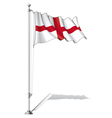 Flag Pole England vector image