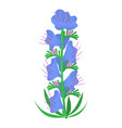 flower icon isometric style vector image vector image