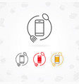 food mobile app icon vector image vector image