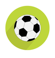 Football soccer ball round icon with long shadow vector image vector image