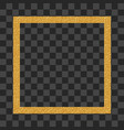 gold border frame abstract hand sketched shapes vector image