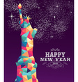 Happy new year 2016 america color triangle hipster vector image vector image