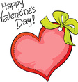 Happy Valentines day - freehand inscription vector image vector image