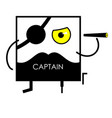 icon face pirate captain vector image vector image
