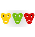 icons emotions dog mask emoji smiley vector image