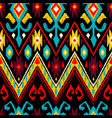 ikat geometric folklore pattern vector image vector image