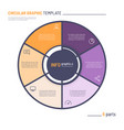 infographic circle chart template six vector image vector image